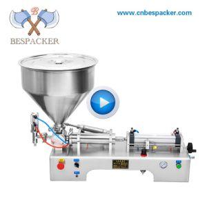 Semi-auto de yoghurt kosmetische room van de jamketchup het vullen verpakkende machine