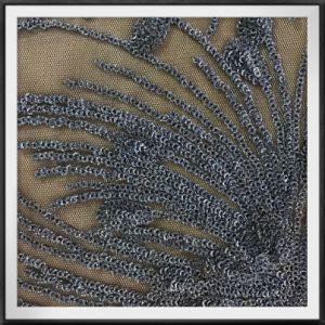 花火のスパンコールの刺繍ファブリックきらめきの刺繍ファブリック