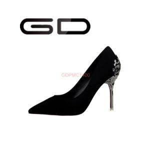 Talon Cuir véritable matériau métallique élégant Chaussures femmes