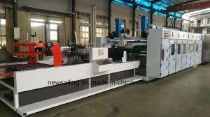 Alta velocidad de impresión automática engranan Troquelado pegado uniendo la máquina