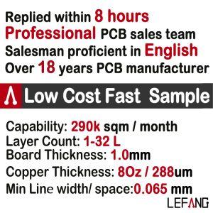 Gold Plating PCB multicamada de alta qualidade do circuito impresso