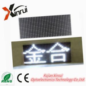 Simple blanc P10 du texte de la publicité de plein air Affichage du module d'écran