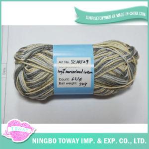 100% algodão Cross Stitch Tópico extravagante Mão Knitting Yarn