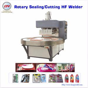 Máquina plástica de alta frecuencia del lacre de la placa giratoria