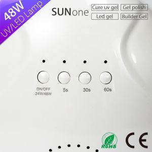 La curación de todos los tipos de gel de 48W Sunone la luz solar LED Lámpara UV uñas