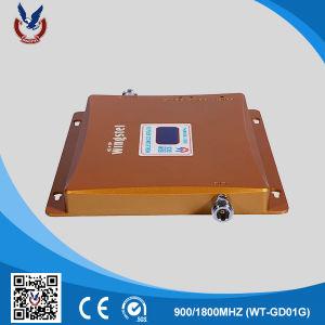 En el interior móvil GSM/WCDMA de doble banda Amplificador de señal 2G/3G al por mayor de repetidor 900/2100MHz amplificador