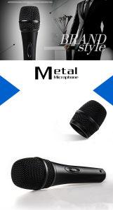 Commerce de gros ordinateur de poche en métal microphone dynamique filaire vocal