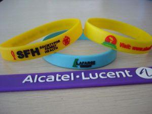 Silicone promozionale Bracelets con Customer Logo