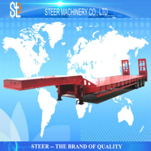 80 Tonnen-Hochleistungstransport-Gebrauch-Fahrzeug Tri-Wellen Lowbed Schlussteil