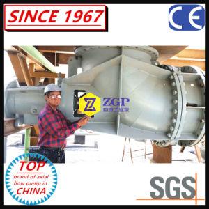 Pompa di flusso assiale duplex chimica orizzontale dell'acciaio inossidabile, pompa a circolazione forzata, pompa verticale del gomito dell'elica, pompa industriale mista di flusso fatta in Cina