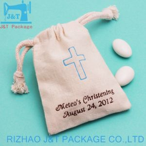 Coulisse de style en toile de coton réutilisable de recyclage de l'emballage de bonbons de sacs de semences