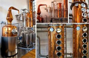 まだラム酒の蒸留酒製造所のDestiladorアルコール銅の鍋の蒸留