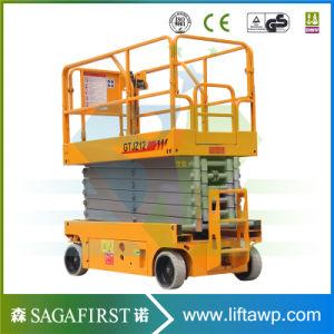 Fabricación de tijera Autopropulsada eléctrico elevador hidráulico de la plataforma de elevación con CE
