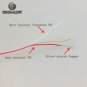Cavo sottile rivestito ultrasottile 40wag/44AWG del PVC del collegare di rame di rame placcato del collegare dell'argento