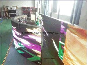 Creative pleine couleur Affichage LED intérieure incurvée de vérin