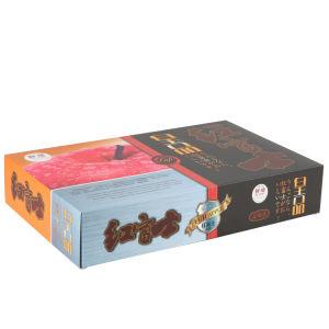 Luxury Vinho magnético das embalagens de papel caixa para presente com seda puxador de fita