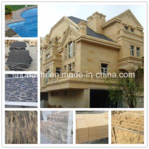 Aperfeiçoou/Flamed/Sandblasted/ácido lavado Bluestone/azul/bege/amarelo/marrom do calcário para piscina/Curbstpool/Lancis/Flooring/Pavimentação/parede/Estátua/passos/Escadas