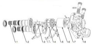 Substituição das Peças da Bomba do Pistão Hidráulico Hpv Hitachi102, HPV118 Komatsu Ex200-5 Ex200-6 Zx200-3 ZX270
