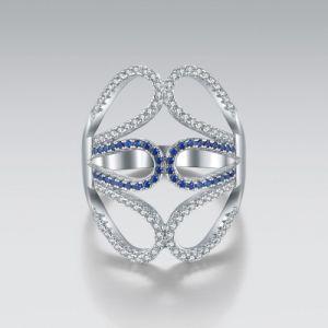 Simplity joyería de plata Anillo de búho con Cubic Zircon