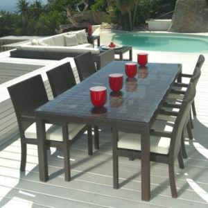 Patio Jardín mobiliario de comedor restaurante de heces de mimbre Rattan silla mesa Set