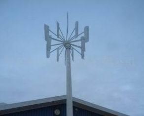 По вертикальной оси ветровой турбины