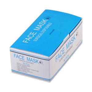 3 Capas Earloop Mascarilla desechable azul con 3 capas de máscara desechable