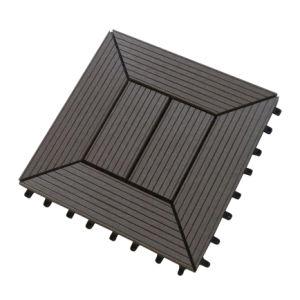 WPC DIY mosaico em deck/Intertravamento Azulejos do piso exterior (DIY303023C)