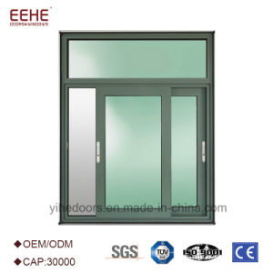 Aluminio de cristal doble Windows de desplazamiento en China