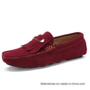 Мода женщин велюр повседневный туфли обувь кожаную обувь (Srx0907-15)