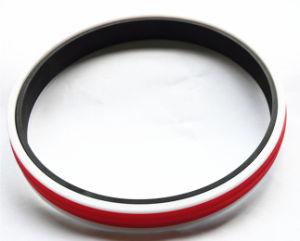 Les joints de piston hydraulique combinés avec la plus haute qualité polyuréthane+POM+NBR gorge rectangulaire Anneau d'étanchéité du piston Composite bidirectionnel