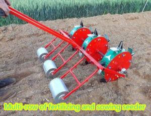 3つの列3の車輪の手動種取り機手のトウモロコシの種取り機機械