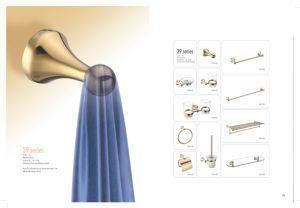 Supporto di spazzola della toletta dell'oro di PVD 391001bg