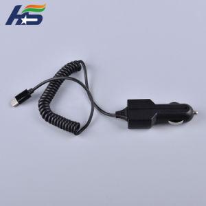 Зарядное устройство для автомобильного прикуривателя адаптер SAE 2 Контакт пулевых отверстия для 12V прикуривателя тип разъема-C/iPhone/ISO