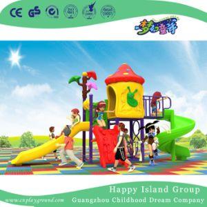 2018 Nova piscina Cartoon Slide Duplo Crianças Mushroom House Parque Infantil (H17-A19)