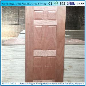 Engineered/Sapeli naturelles Bois plaqués en contreplaqué moulé de la peau de porte