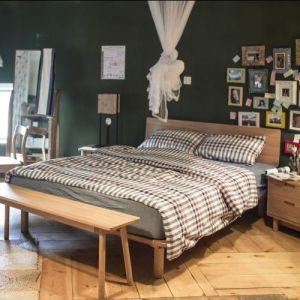 أثر قديم/حديثة بلوط غرفة نوم [سليد ووود] غرفة نوم مجموعة
