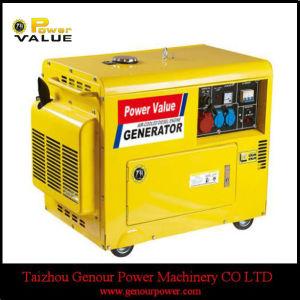 Питание Genour 220V 3 квт мощности дизельного генератора Silent малых для продажи