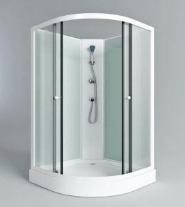 Salle de bain blanc moderne cabine de douche en alliage en aluminium ...