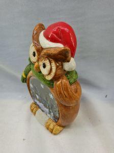 Het Dierlijke Standbeeld van de Uil van het Decor van Kerstmis
