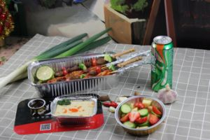 عادة طعام يعبر [ألومينوم فويل] [لونش بوإكس] مستهلكة مع غطاء