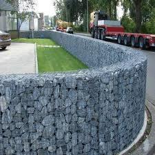 Venda a quente soldados galvanizados decorativas Gabião Stone Fence Box