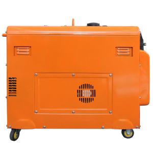 赤いカラー5kw無声ディーゼル発電機(DG6LN)