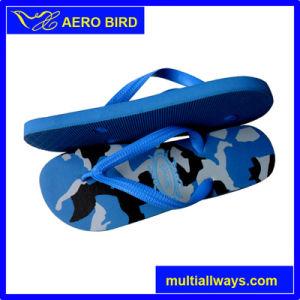 Commerce de gros coloré PE Flip Flops de plein air d'impression