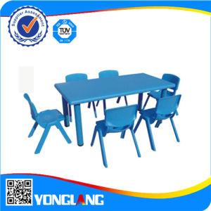 Mobiliário de mesa de plástico para crianças playground coberto (YL6101)