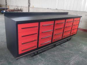 10FT 20 de Op zwaar werk berekende Werkbank van de Opslag van het Hulpmiddel van het Metaal van de Lade met Dubbel Spoor