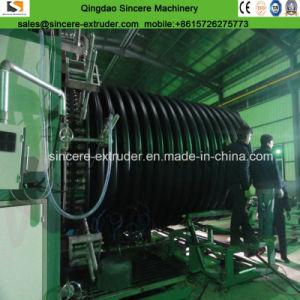 Devanado ondulado de doble pared PEAD tubos de PVC máquinas de hacer