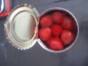 Delicioso Morango enlatados doce em calda