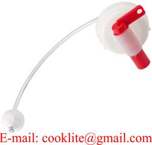 帽子DIN 51mmの自己のガス抜きのドラムバレルのコックのPEのプラスチック蛇口