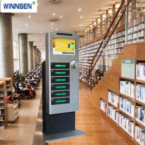 Freier allgemeiner im Freienbekanntmachenmonitor-Bildschirmanzeige-Fußboden-stehender Handy-Ladestation