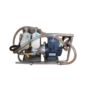 Carrello portatile del filtro dell'olio nel circuito idraulico